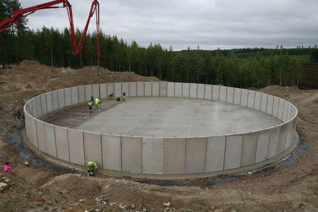 Manure storage in Haapamäki, Finland