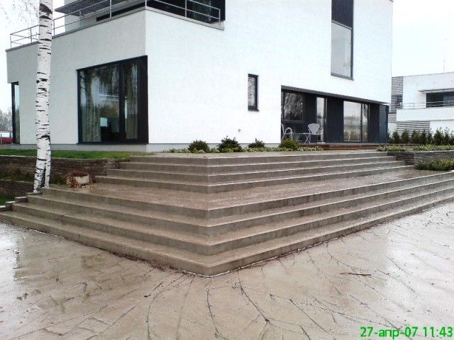 Stairs of detached house in Tartu
