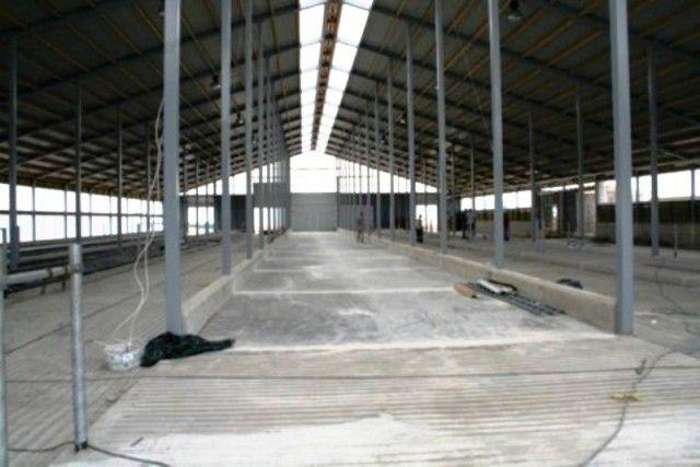 Concrete floors of dairy farm in Sadala, Estonia