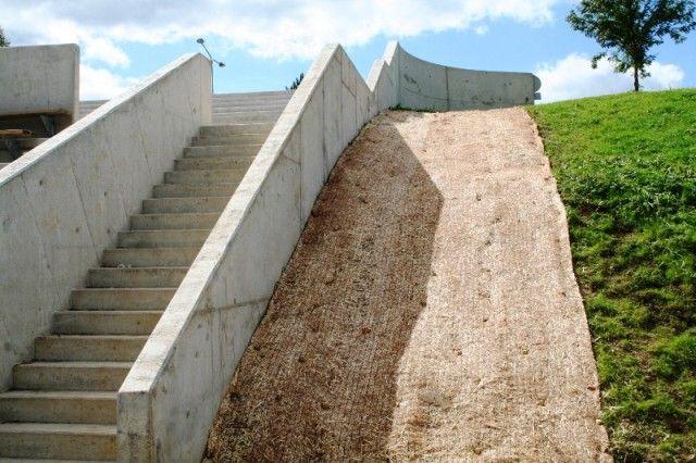 Ski stadium stairs in Otepää